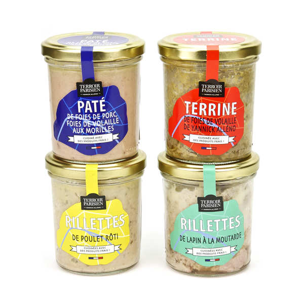 Terroir Parisien terrines and rillettes assortment