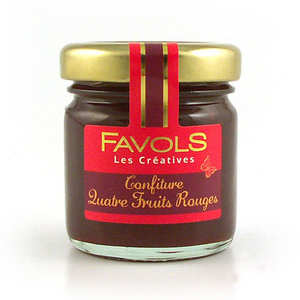 Favols - Confiture de quatre fruits rouges