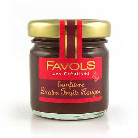 Favols - Confiture de quatre fruits rouges