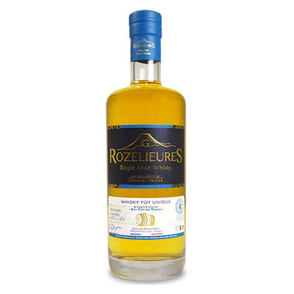 Whisky Rozelieures brut de fût finition en fûts de Tokay de Hongrie 56%
