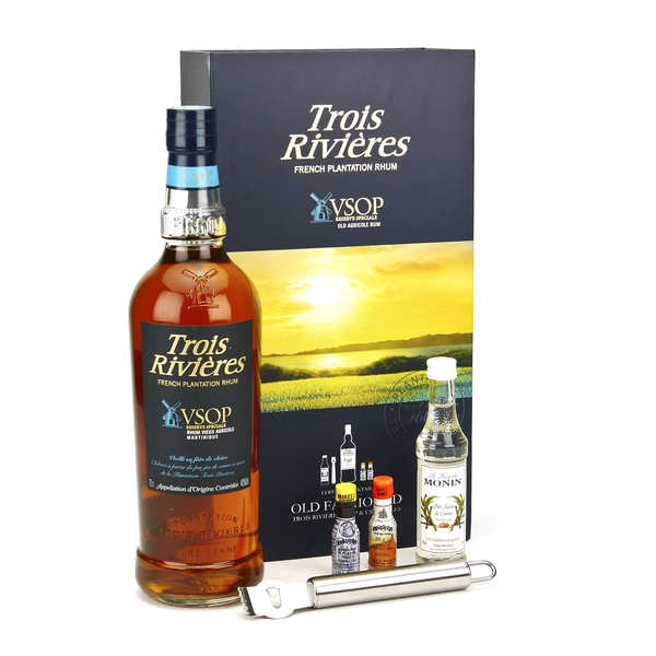 Rum Gift Box Trois rivières VSOP Old Fashioned