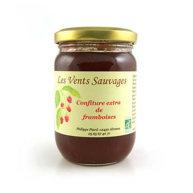 Organic raspberry jam - South of France