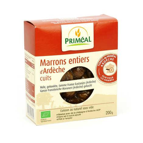 Priméal - Marrons entiers bio d'Ardèche cuits sous vide