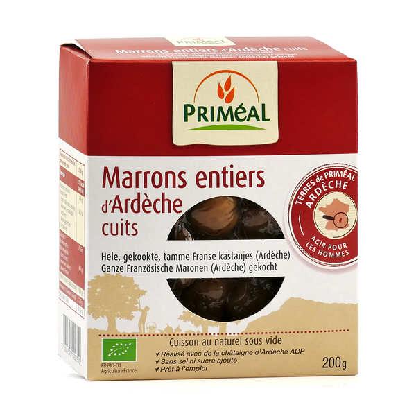 Marrons entiers bio d'Ardèche cuits sous vide