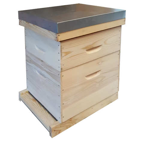 Ateliers du Prieuré - Spruce Dadant Hive 10 frames flat roof (mounted)
