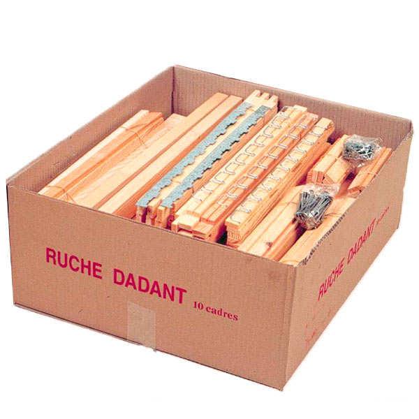 Ruche dadant 10 cadres en épicéa en kit