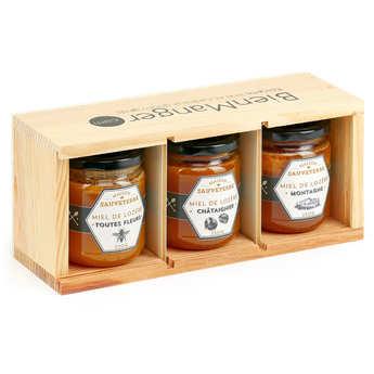 Maison Sauveterre - 3 Honey Jars from France Gift Set