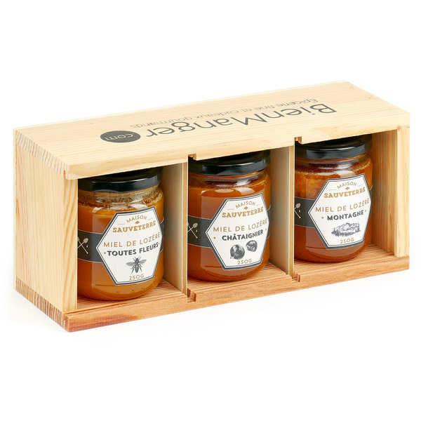 3 Honey Jars from France Gift Set