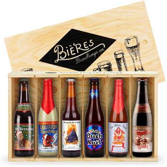 BienManger paniers garnis - Caisse bois de 6 bières de Noël