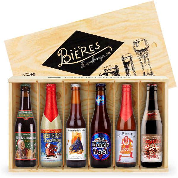 Caisse bois de 6 bières de Noël