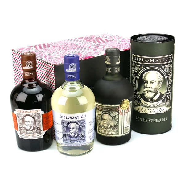 Coffret cadeau Rhum Diplomatico 3 bouteilles