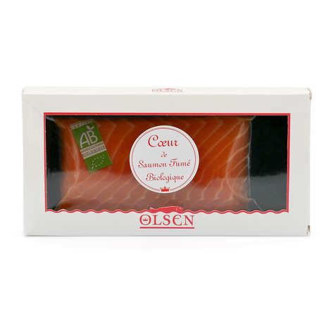 Olsen - Coeur de filet de saumon fumé bio Olsen