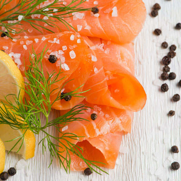 "Marinated Organic Salmon with Dill ""Gravadlaks"" (Gravelax) Olsen"