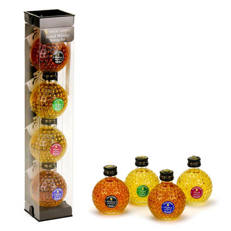 Old St Andrews - Collection de 4 Whisky Old St Andrews - balles de golf 40%