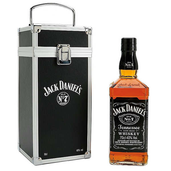 whisky jack daniel 39 s n 7 coffret cadeau flight case jack daniel 39 s. Black Bedroom Furniture Sets. Home Design Ideas