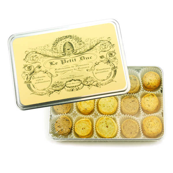 Assortment of 4 types of salty biscuit
