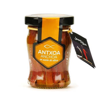 Batteleku - jean de Luz - Filet d'anchois à l'huile d'olive Maisor