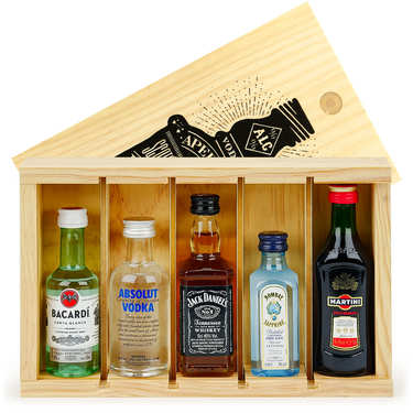 Spirit Mini Bar Gift Crate - 5 miniatures