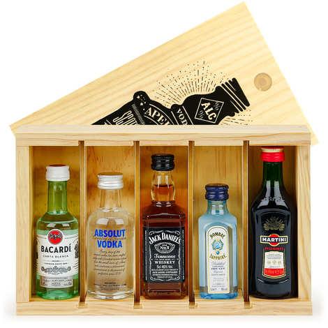 BienManger paniers garnis - Spirit Mini Bar Gift Crate - 5 miniatures