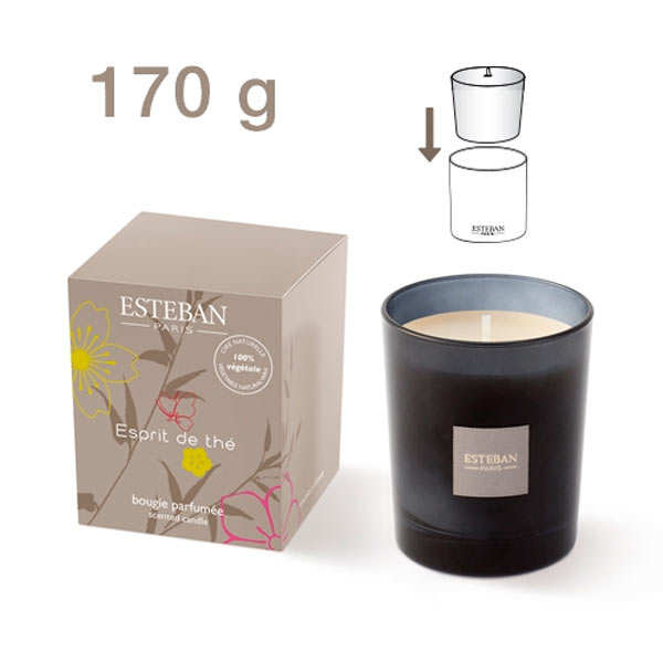 """""""Esprit de thé"""" Rechargeable Scented Candle"""