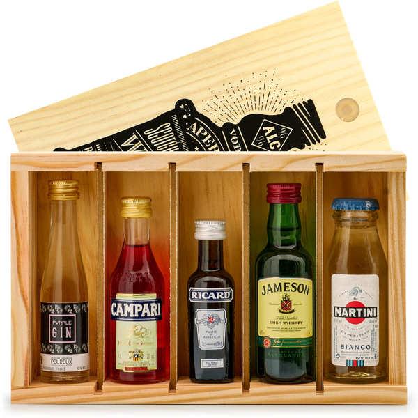 Aperitif Spirit Mini Bar Gift Crate - 5 miniatures