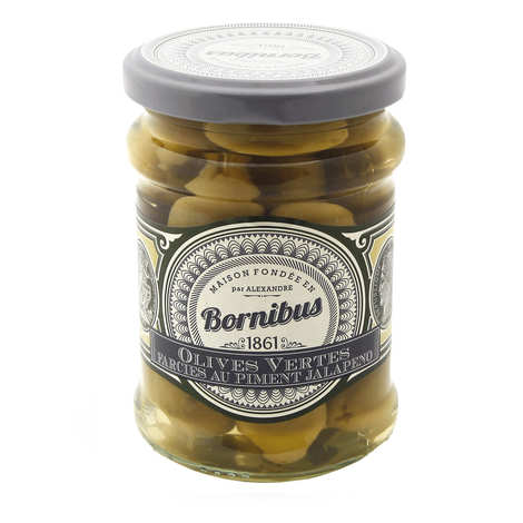 Bornibus - Green Olives Stuffed with Jalapeno Pepper