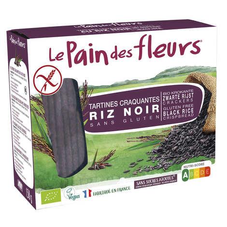 Le pain des fleurs - Crunchy Organic Black Rice Toast, gluten free