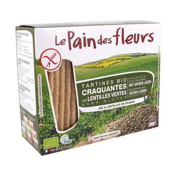 Le pain des fleurs - Crunchy Organic Lentil Toast, gluten free