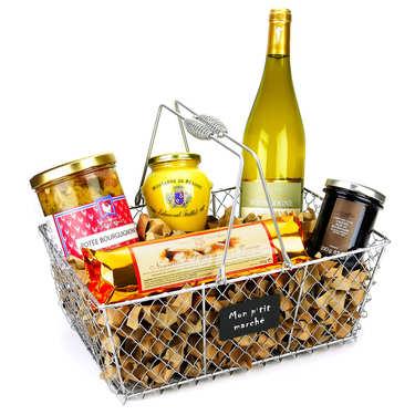 Gourmet basket from Burgundy