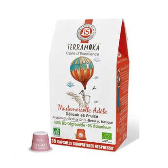 Terra Moka - Organic Arabica 100% Coffee from Mexico and Brazil Nespresso® Compatible Caps
