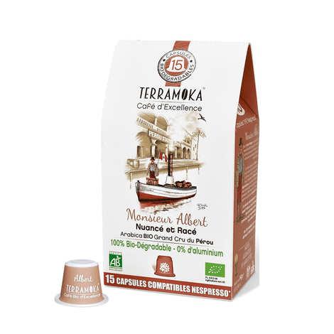 Terra Moka - Albert - Organic Arabica 100%  Coffee from Peru Nespresso® Compatible Caps