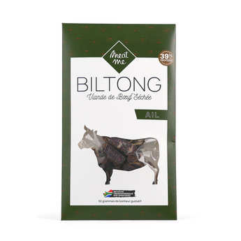 Meat Me - Beef Biltong with Garlic - Dried and Marinated Meat