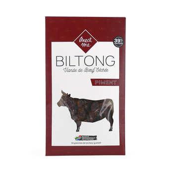 Meat Me - Biltong de Bœuf au piment - viande marinée et séchée