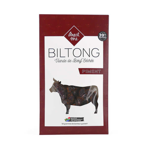 Beef Biltong with Chili - Dried and Marinated Meat