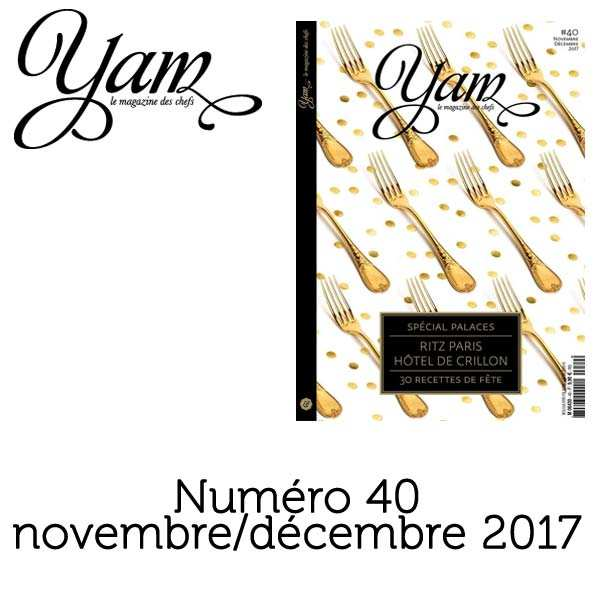French magazine about cuisine - YAM n°40