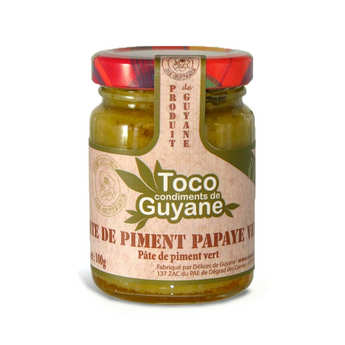 Délices de Guyane - Green Chili Paste with Papaya