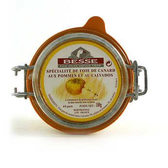 Foie gras GA BESSE - Foie gras de canard entier aux pommes et au calvados