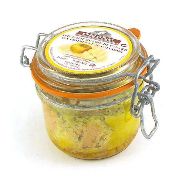 Foie gras de canard entier aux pommes et au calvados