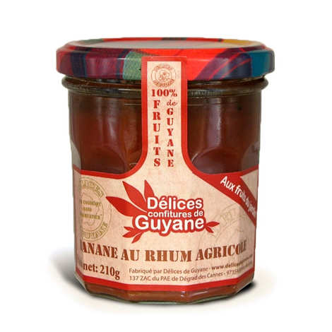 Délices de Guyane - Banana with Agricultural Rum Jam from Guiana