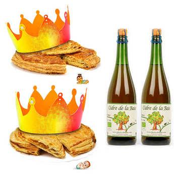 Pâtisserie St Jacques - 2 galettes des rois et leurs bouteilles de cidre fermier bio