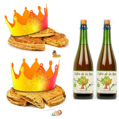 Pâtisserie St Jacques - 2 Epiphany cakes and their organic ciders