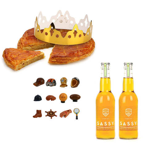 L'Atelier Canourguais - Galette des Rois frangipane et ses 2 bouteilles de cidre