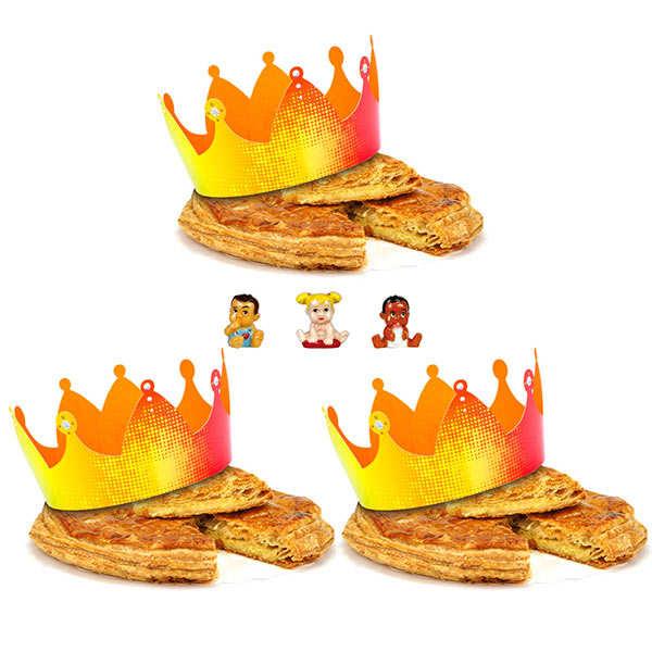3 Galettes des rois à la frangipane de la pâtisserie St Jacques