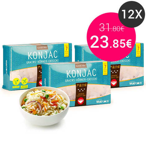 Wok Foods - 10 sachets de Riz de Konjac (grains)