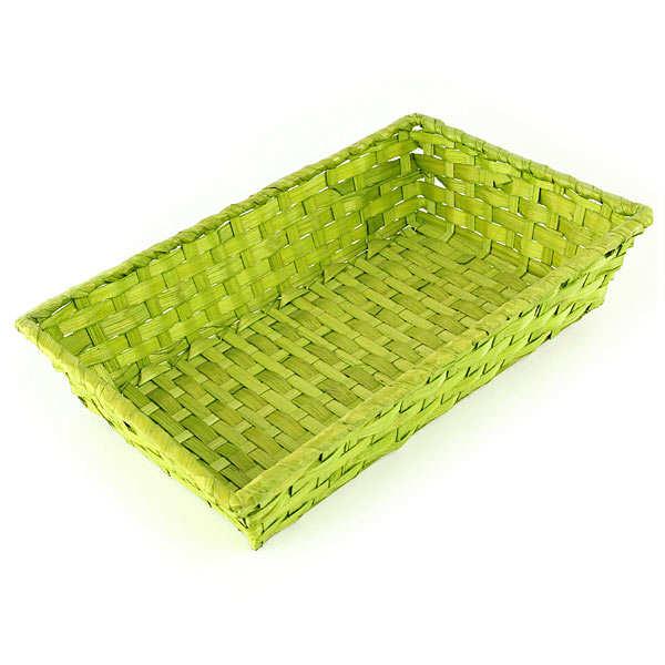 Corbeille bambou rectangle couleur vert anis - Image couleur vert anis ...
