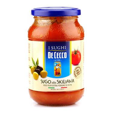 Sauce tomate à la sicilienne De Cecco (Olives)