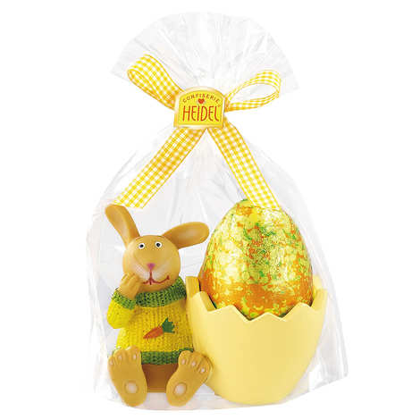 Confiserie Heidel - Egg Cup with a Milk Chocolate Egg