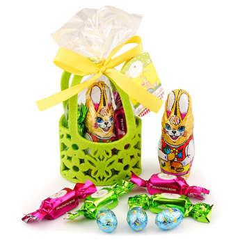 Confiserie Heidel - Little Felt Bag Garnished with Milk Chocolate