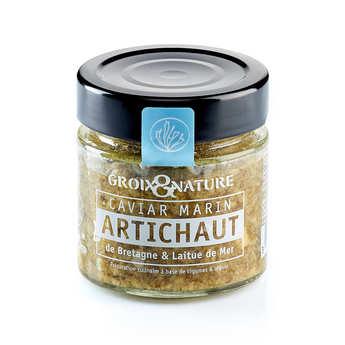 Groix & Nature - Marine Caviar with Artichoke and Sea Lettuce