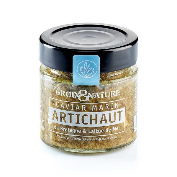 Marine Caviar with Artichoke and Sea Lettuce